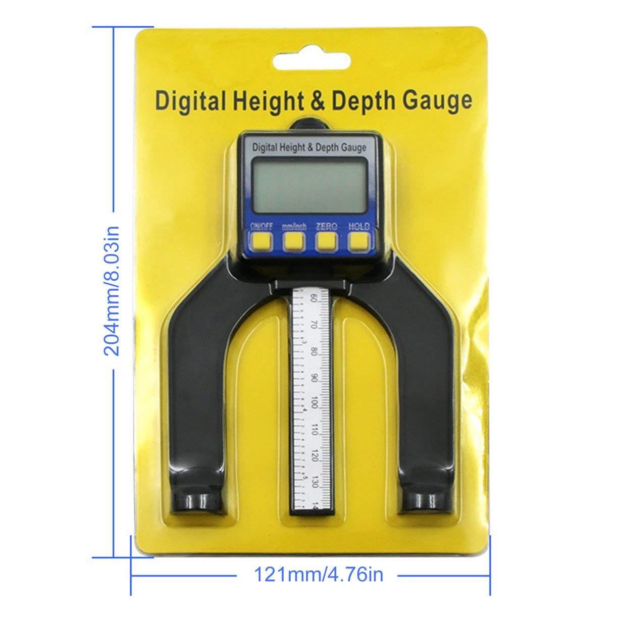 bleue et noire 0-80MM LCD Num/érique Jauge de Profondeur /Étriers Outils de mesure de la hauteur Ouverture Magn/étique Autoportante