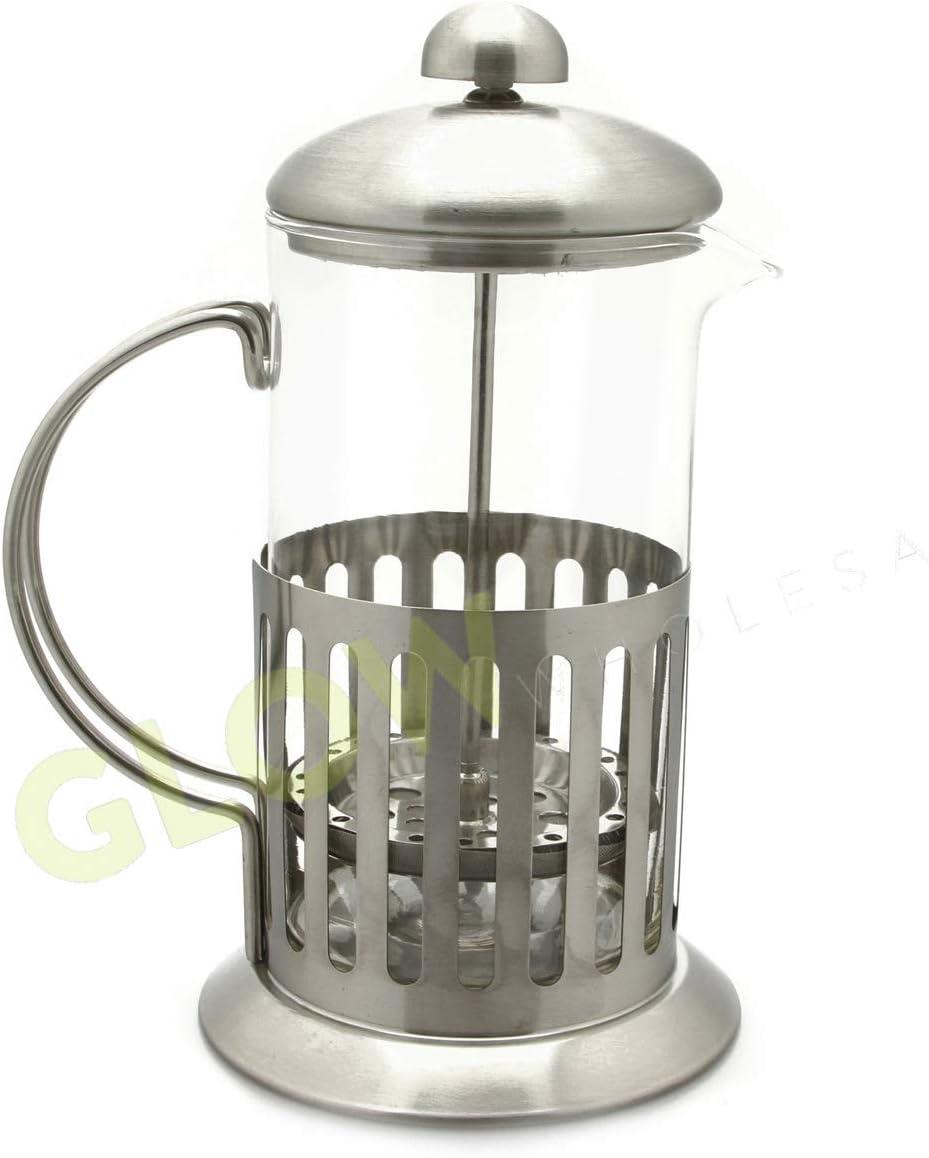 Glow Classic Continental - Cafetera de émbolo manual de 3 tazas ...