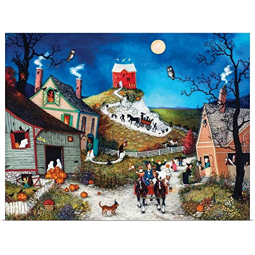 GREATBIGCANVAS Poster Print Entitled Halloween, Boo by Linda Nelson Stocks -