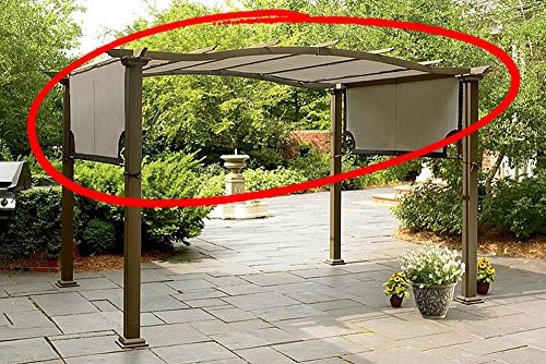 Replacement Canopy for Sears Garden Oasis Pergola S-PG11D1 Light Polyester Fabric With Brown Trim And Grommet Holes by The Outdoor Patio Store