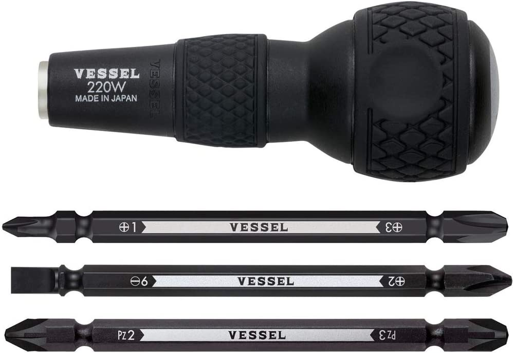 Bessel Vessel Ball Grip différence et tournevis Set No.220W-3