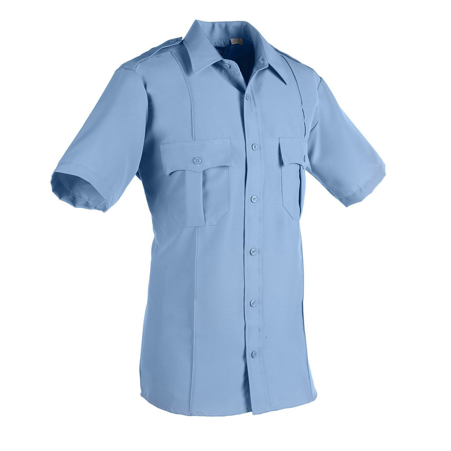 0013b24a546 Amazon.com  America Wear Men s Light Blue Short Sleeves Security Shirt  (Small)  Clothing