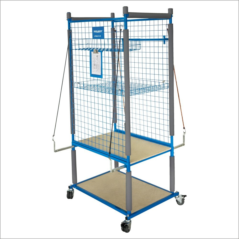 SOLARY PS312 Parts Cart Heavy Duty Mobile Storage Rack Shelf Garage Storage Shelves with 4 Wheels, 4 pcs of elastic ropes by Solary (Image #1)