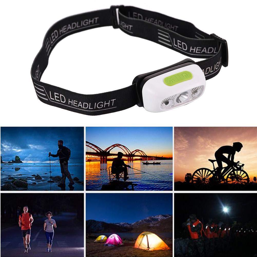 LED Stirnlampe Scheinwerfer Taschenlampe Infrarot-Sensor Mini Scheinwerfer USB Aufladung Glare Wasserdicht Nachtlicht fü r Reiten, Angeln, Camping, Laufen Jweal