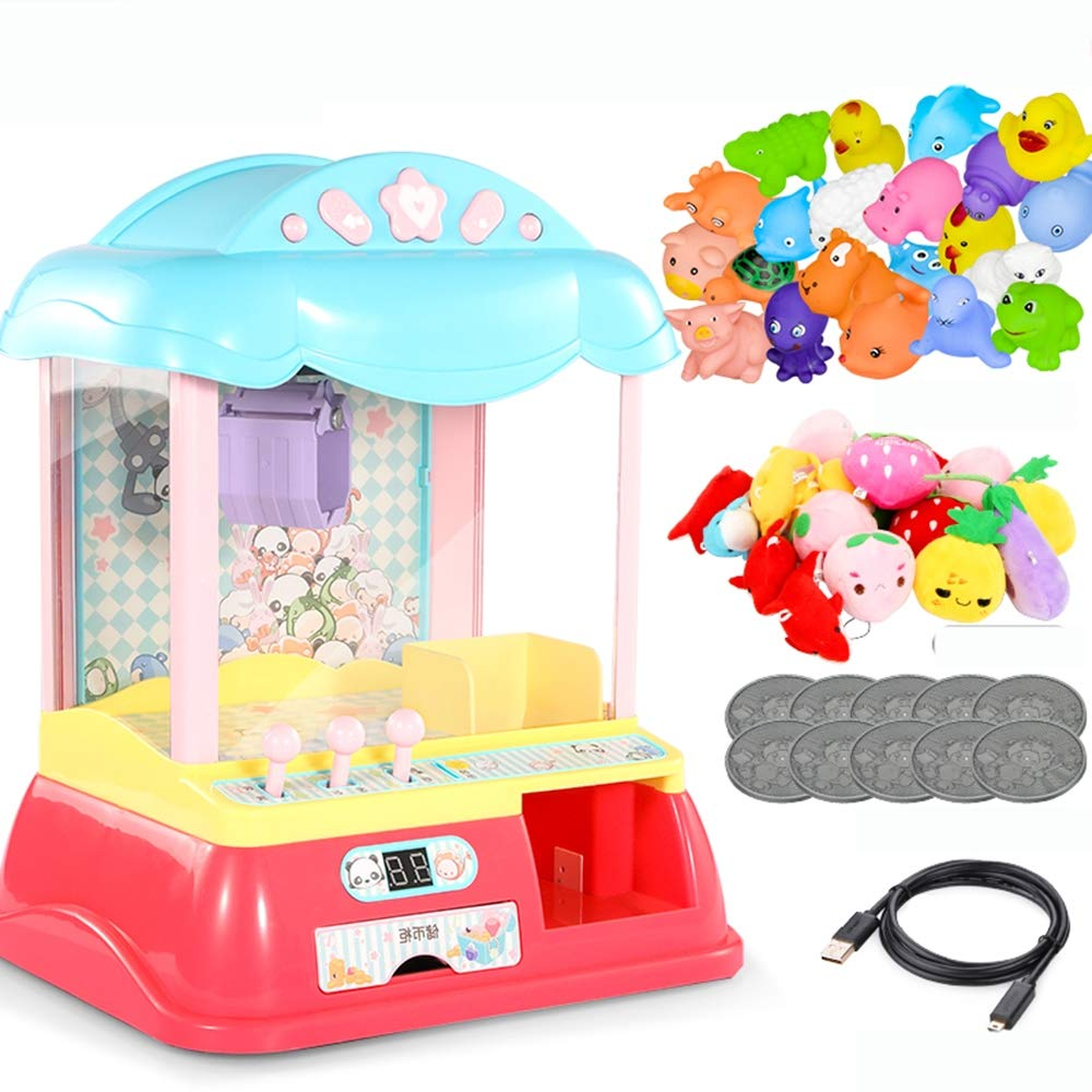 MOIMK Mini Electronic Arcade Claw Machine | Toy and Prize Grabbing Machine Game with LED Lights and Sounds | Fun Arcade Game for All Ages,PrinceEdition