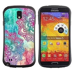 "Pulsar iFace Series Tpu silicona Carcasa Funda Case para Samsung Note 3 , Fractal Art Pen colorido rosa del trullo"""