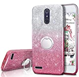 ZTE ZMax Pro Case, ZTE Carry Z981 Case, Silverback Girls Bling Glitter Sparkle Case With Stand, 3 Layers Cover for ZTE Imperial Max Z963U / ZTE Blade Max 3 Z986 / Max XL N9560 / Blade X Max Z983 -Pink