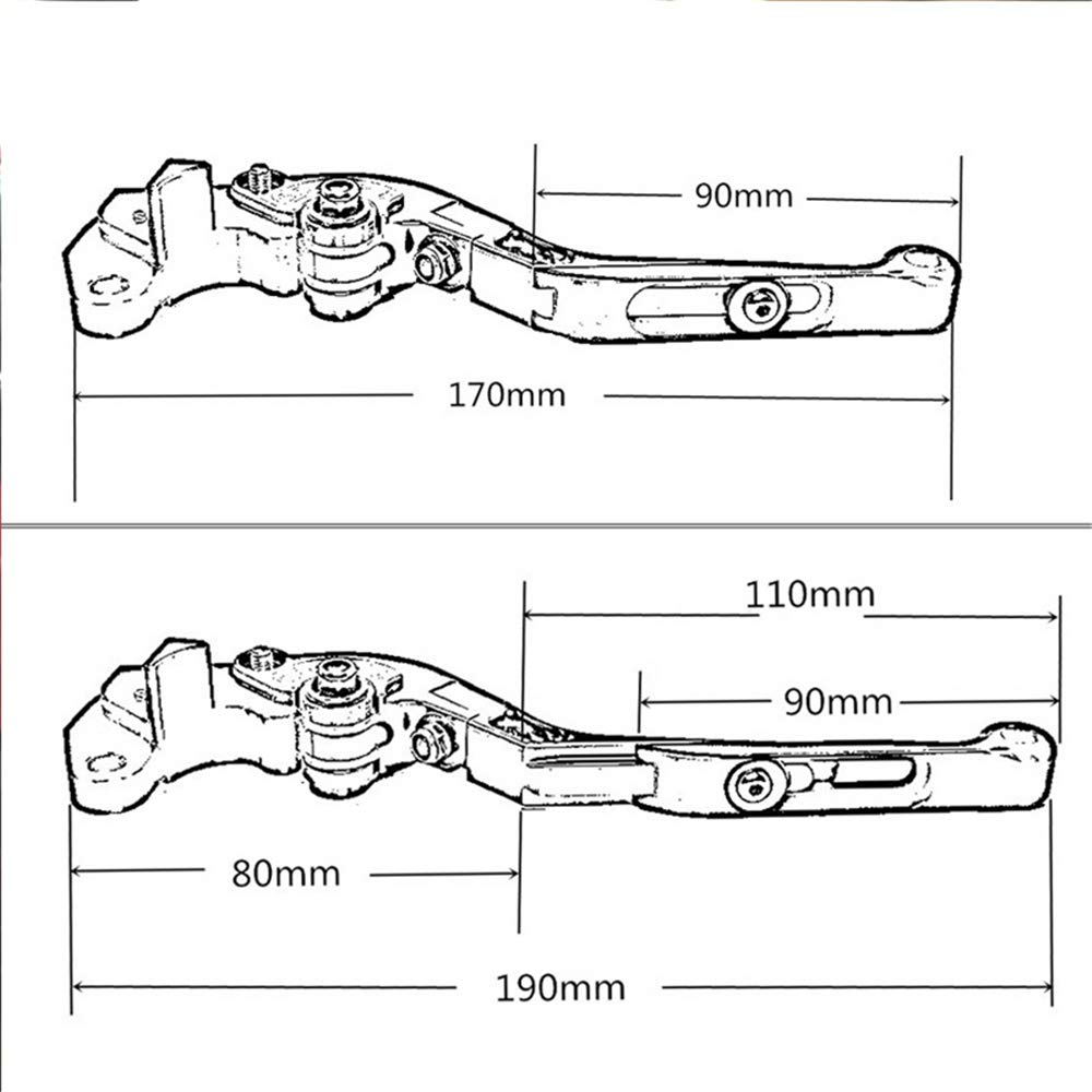 CNC Motorcycle Foldable Extendable Clutch Brake Lever For Ducati 749 749S 749R 2003 2004 2005 2006