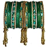 BangleEmporium Jhilmil Collection! 30 Indian Bangle Bracelet Set Green Size Small 2.6