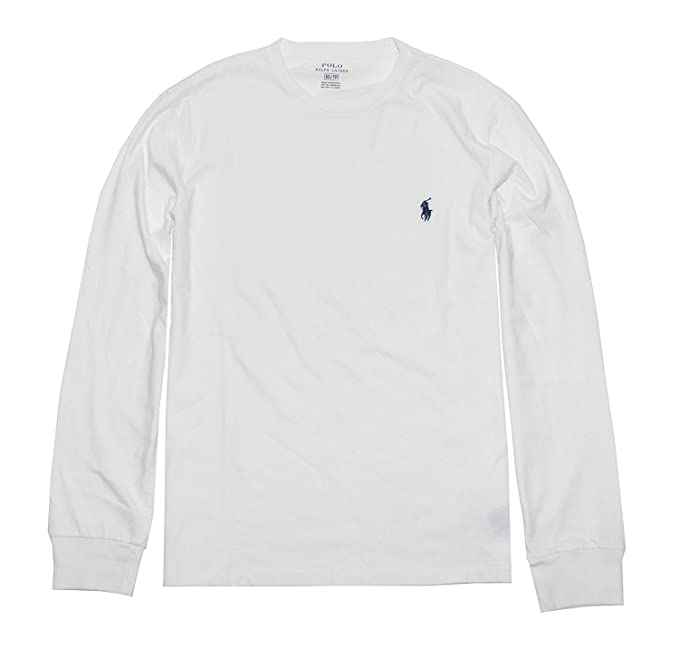 Polo Ralph Lauren Hombres camiseta de manga larga con cuello de la tripulación (xx-