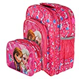 OKJI Frozen printed 14 Inches School Bag For girls- Back Pack combo (Set Of 2) for Junior School (Age group :2-5 yrs)