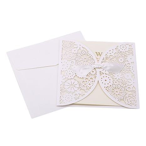 Sevenhope 25 Unidades Color Blanco Boda Invitaciones
