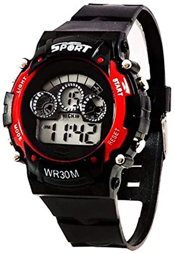 Maa Creation New 7 Light Analogue Digital Red Dial Boy's Watch