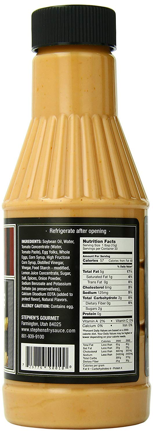 Stephen's Gourmet Fry Sauce, 17.5-Ounce Bottles (Pack of 3) by Stephen's Gourmet (Image #2)