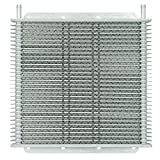 Flex-a-lite (400130) Stacked Plate 30-Row Transmission Cooler, 11 x 10 x 3/4'' with 3/8 inch Barbed Fittings