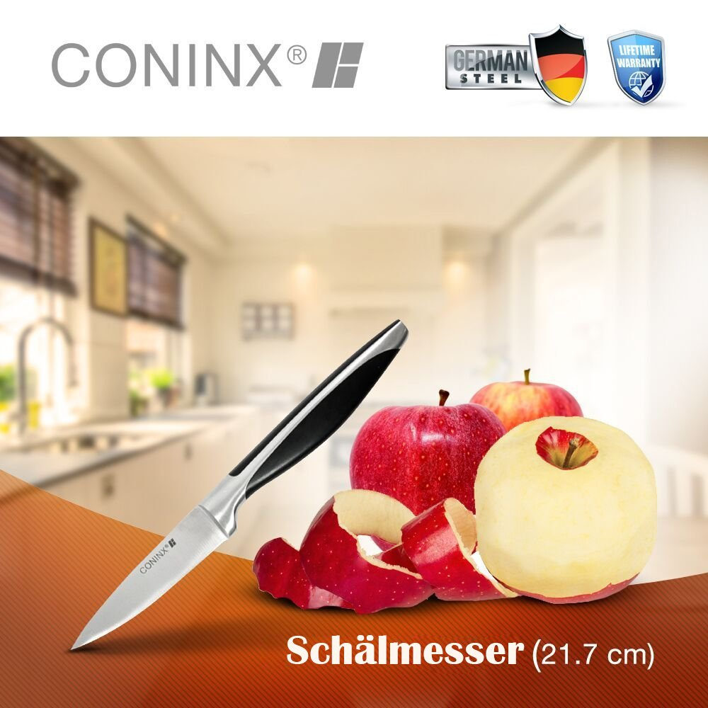 per Frutta e Verdura e Spelucchino Coninx Set di Coltelli da Cucina in Acciaio Inox Krupp 4116 Acciaio Tedesco Thyssen da Carne Coltello da Cuoco da Pane