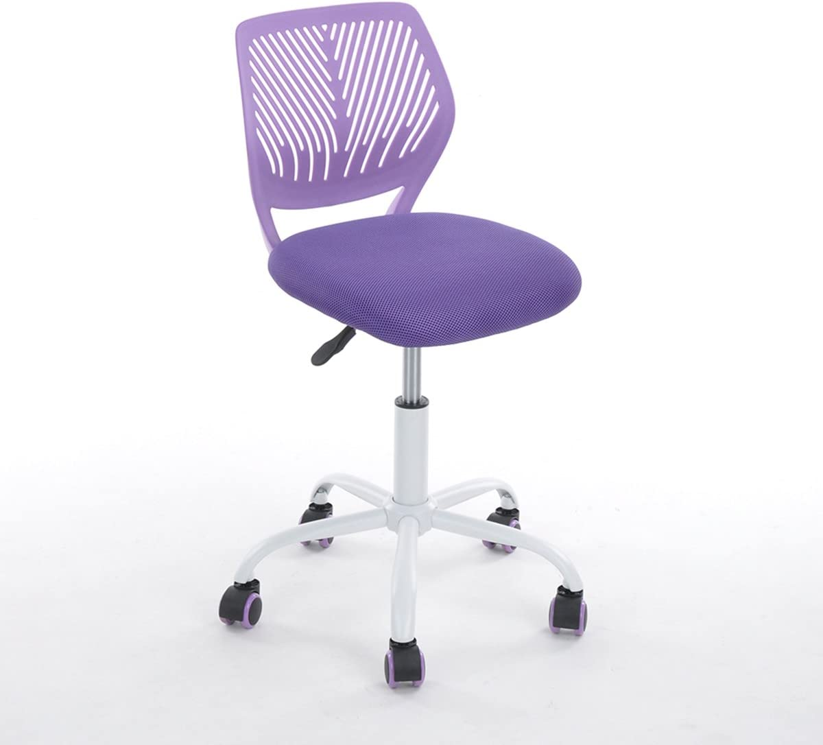 Purple Office Task Adjustable Desk Chair Mid Back Home Children Study Chair