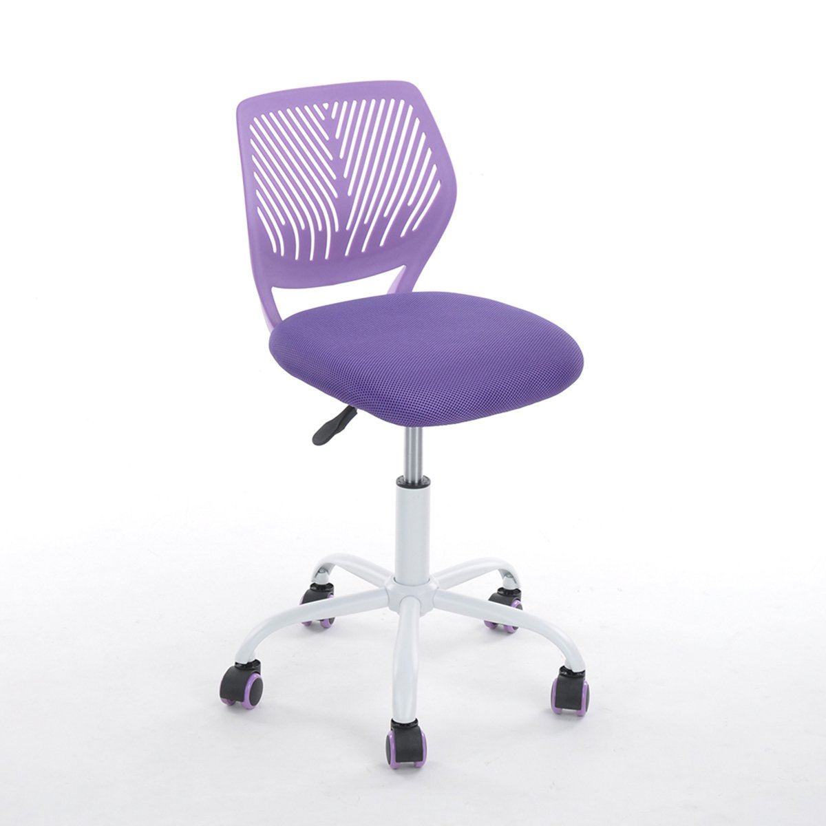 Purple Office Task Adjustable Desk Chair Mid Back Home Children Study Chair by eHomeProducts