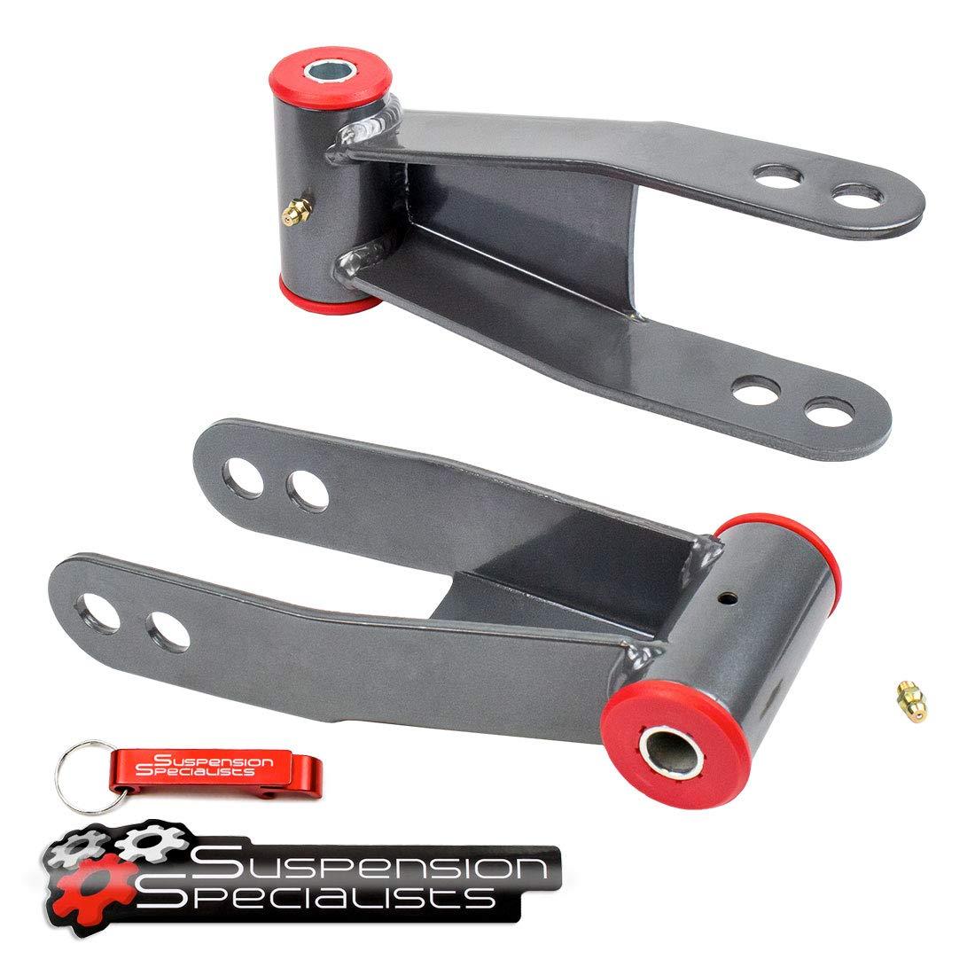 2 Rear Drop Lowering Kit For 2019 Chevy Silverado GMC Sierra 2WD//4WD Shackles