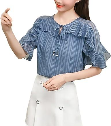 Mujer Camisas Chiffon Verano Fashion Bonita Camisas Tops ...