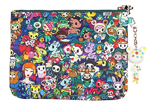 Zip Green Clutch Bag Multi Pouch Tokidoki Rainforest 8cqW5Oa