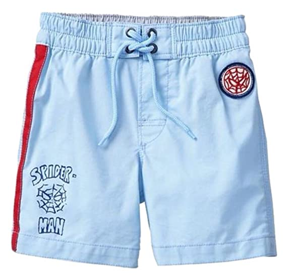 3289fea57a Amazon.com: Baby Gap Toddler Boys Blue Spiderman Swim Trunks 18-24 ...