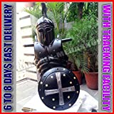 Corinthian Helmet Medieval & Viking Iron Shield W/ Muscle Jacket Collectible