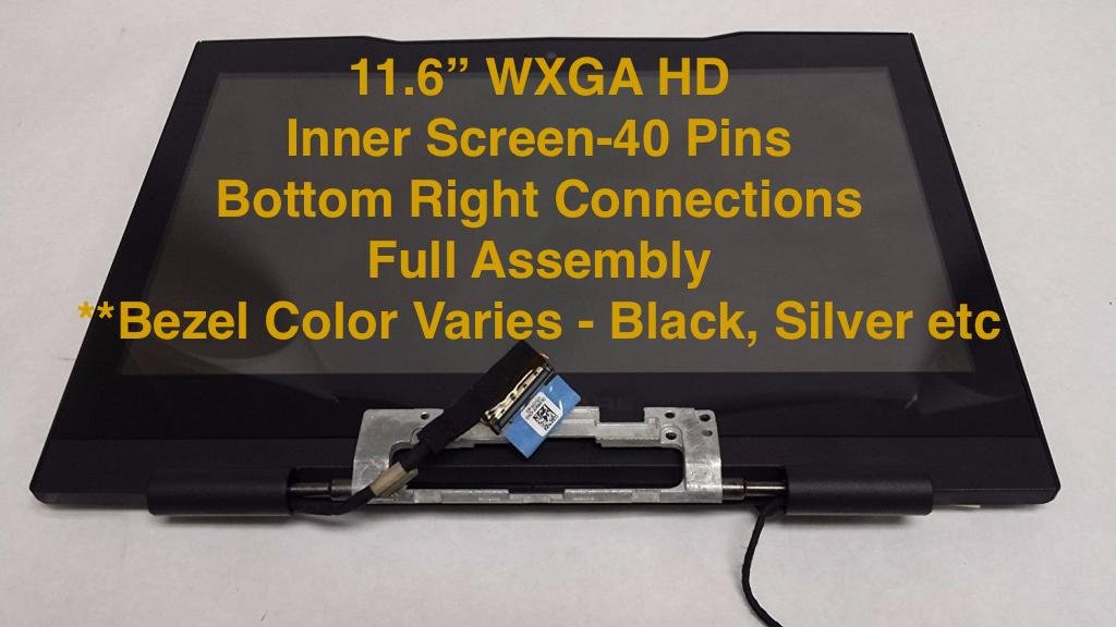 R2Y7G - BLACK - Dell Alienware M11x / M11xR2 / M11xR3 LCD Screen Display Complete Assembly with Web Camera - R2Y7G