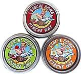 Stache Bomb Stache Wax- Moustache Wax From Maine- Triple Stache Pack