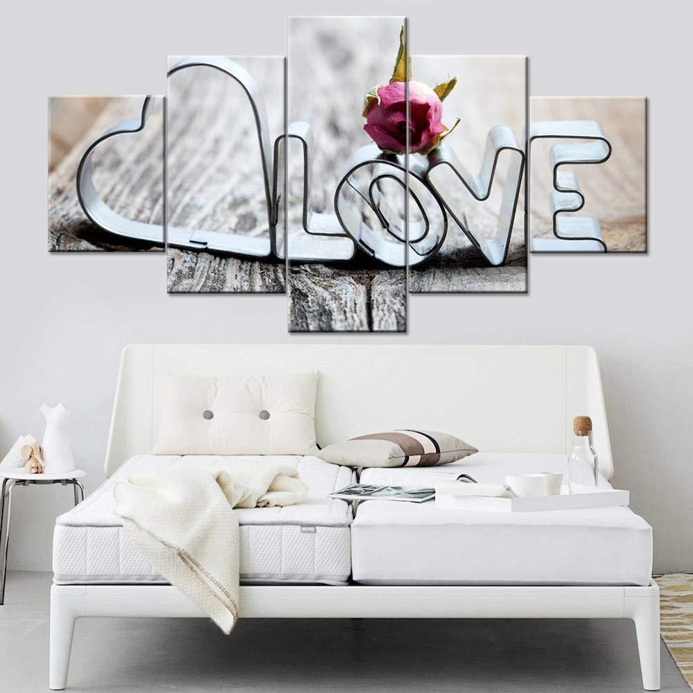 adgkitb canvas Marco de Pintura Modular Arte de Pared 5 Paneles ...