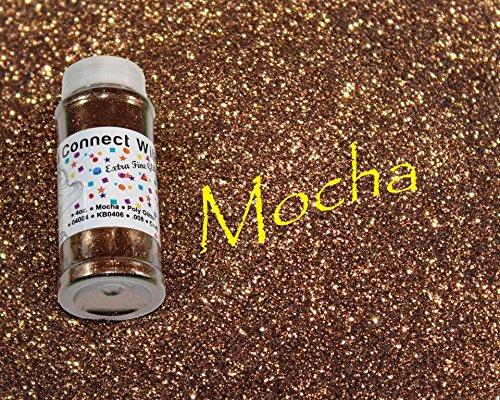 Mocha, Extra Fine Poly Glitter 1/128, 4oz Shaker Bottle