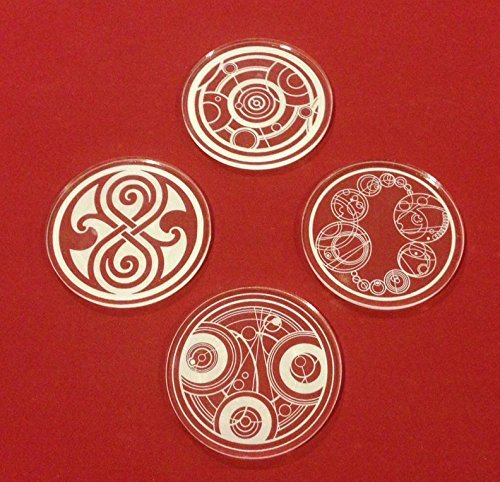 Amazon Doctor Who Gallifreyan Symbols Clear Acrylic Drink