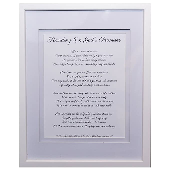 Poems about God by Anna Szabo #PoemsFromGod God's Promises framed poetry for Prayer Hallway