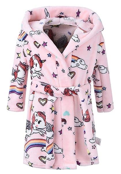 444c958ab71 Ameyda Unisex Children s Flannel Bathrobes Hoodie