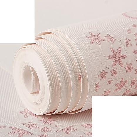 Koreanisches pastorale Wallpaper/Mädchen3dSolide Schlafzimmer warm Tapete/Mädchen Kinder Zimmer Tapete/Vliestapete-C