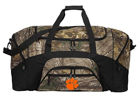 92b2ee5814 Image Unavailable. Image not available for. Color  Broad Bay Realtree Camo  Clemson Duffel Bag Or Camo Clemson Tigers Gym Bag