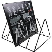Record-Happy Vinyl Record Storage Holder Stand – Premium Vinyl Coated Metal Wire Rack Holds up to 50 Album Lp's – Simple…