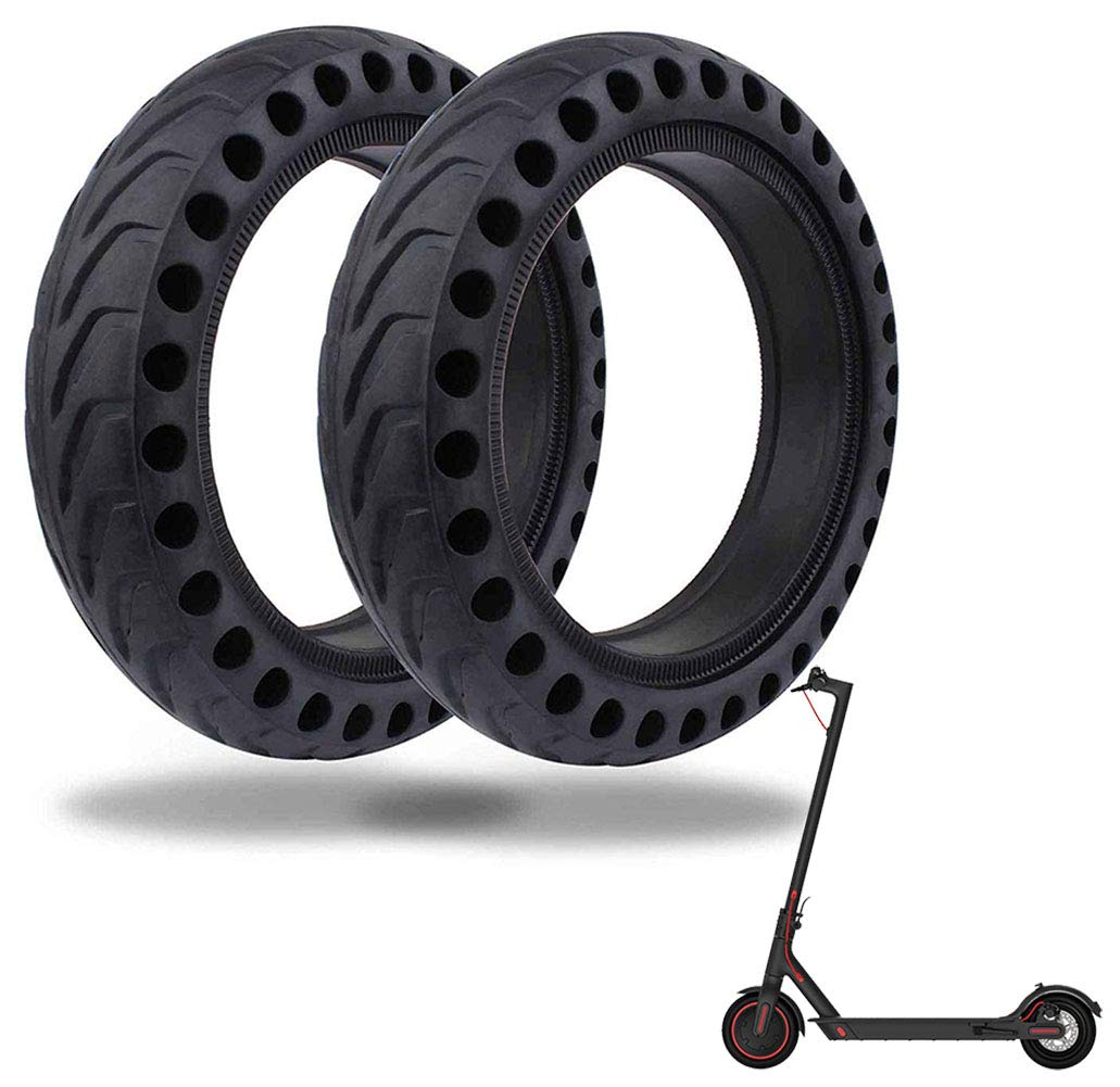 8.5 Inch Solid Tire Front/Rear Tires Replacement for Xiaomi Mijia M365 Electric Scooter(Black, 2 PCS) by Together-life