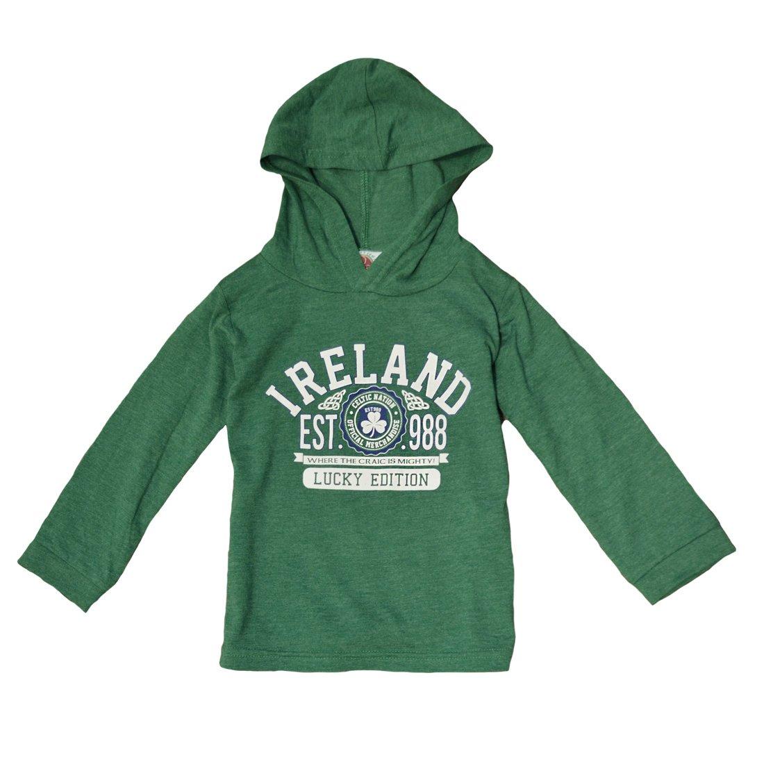 Carrolls Irish Gifts Green Ireland Lucky Edition Kids Hoodie 3 4 Years