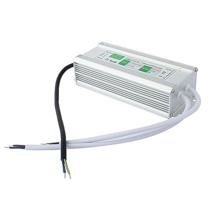 Liqoo® 80W 6.66A LED Transformador Impermeable IP67 Conversor Adaptador Conductor Eléctrico Fuente de Alimentación