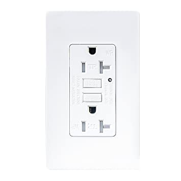 61TCix%2BtruL._SY355_ topele 20amp gfci outlet, 125 volt weather resistant receptacle Leviton 20 Amp GFCI at fashall.co