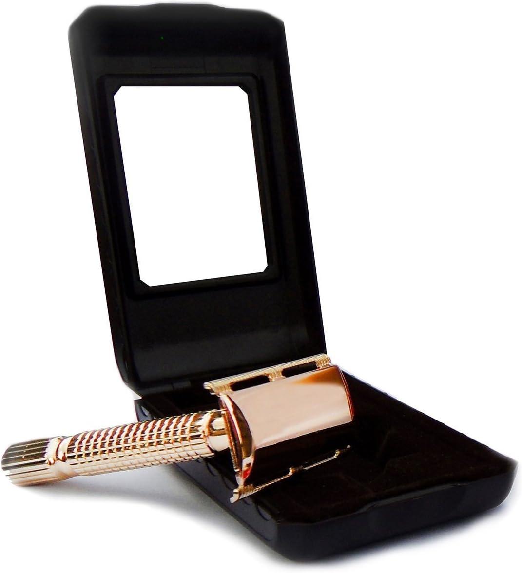 Baili Gold Plated® - Maquinilla de afeitar de doble filo para todas las cuchillas de afeitar
