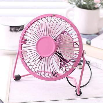 LCHULLE USB Ventilador de Mesa Escritorio Mini Portátil Ventilador Silencioso con Rotación de 360° Fan para Oficina Hogar Viaje, Rosa: Amazon.es: Hogar