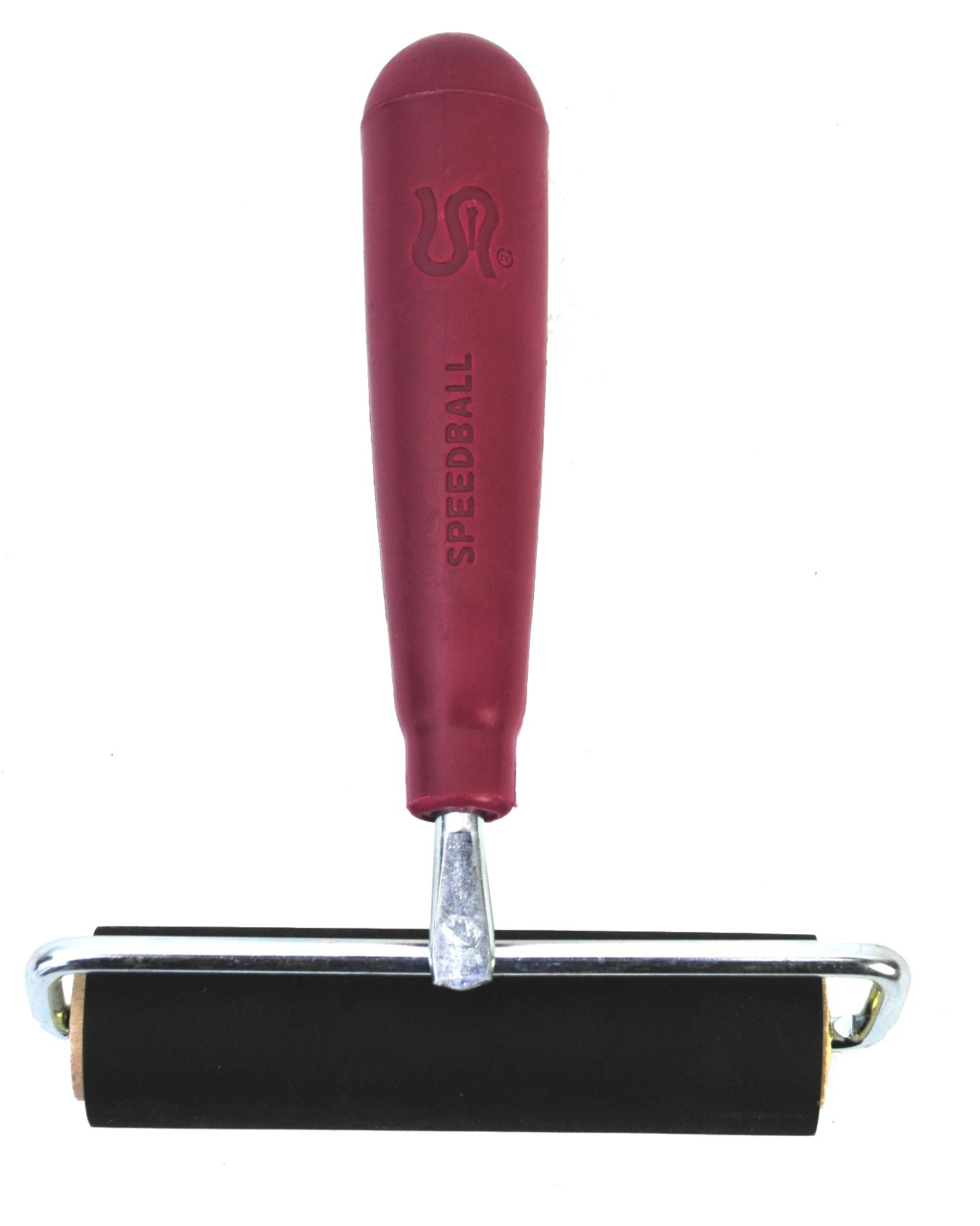 Speedball 4121 Deluxe Hard Rubber Brayer - 80 Durometer Roller With Wire Frame - 4 Inches by Speedball
