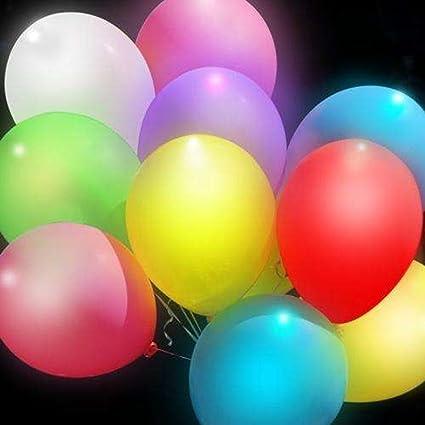 Colleer globos multicolores con luz led, para fiestas ...