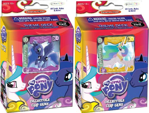Princess Celestia & Princess Luna MLP Canterlot Nights Theme Deck Bundle