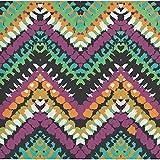 Elise 325059 Southwest Pattern 3-Ply Beverage Paper Napkins, Chevron