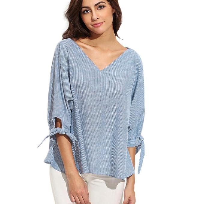 Tongshi Suelta de manga larga de la blusa ocasional de la camisa de las nuevas mujeres
