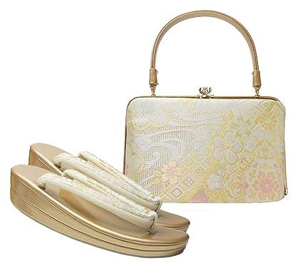304379e25b3b8 Amazon.co.jp: 振袖用 草履バッグ セット 桜 墨流し  服&ファッション小物