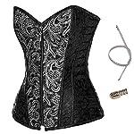 Alivila.Y Fashion Womens Sexy Steampunk Gothic Steel Boned Vintage Corset 7